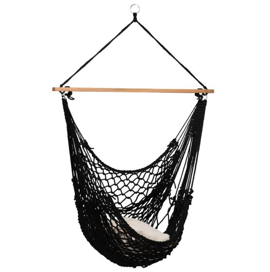 Hængekøjestol 1 person Rope Black