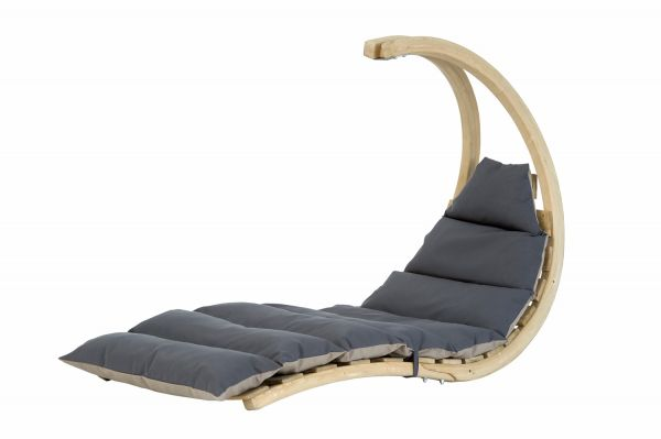 Hængekøjestol 1 person Swing Lounger Anthracite