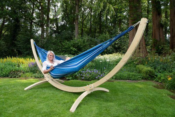 Hængekøje med Stativ til 2 personer Wood & Chill Calm