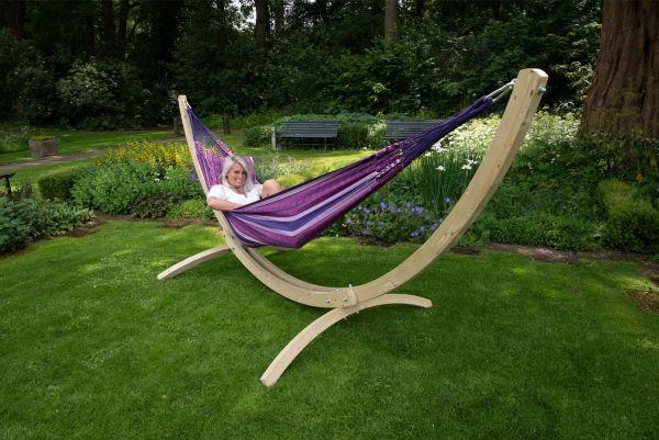 Hængekøje med Stativ til 2 personer Wood & Chill Love