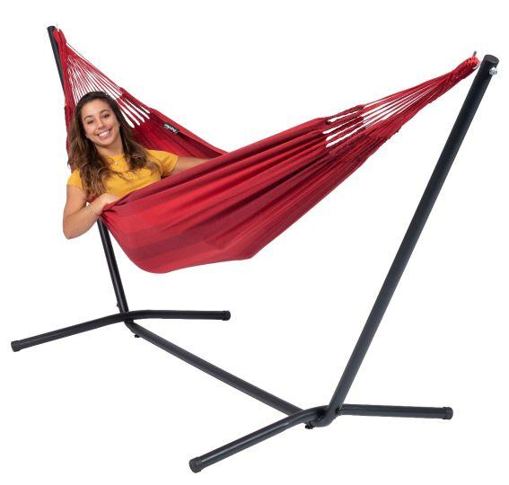 Hængekøje med Stativ til 1 person Easy & Dream Red