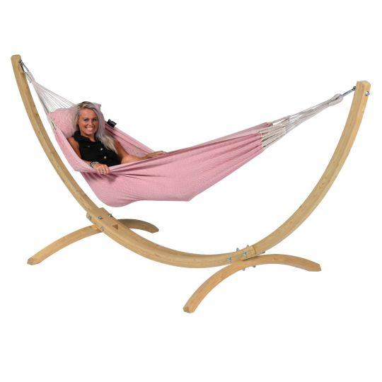 Hængekøje med Stativ til 1 person Wood & Natural Pink
