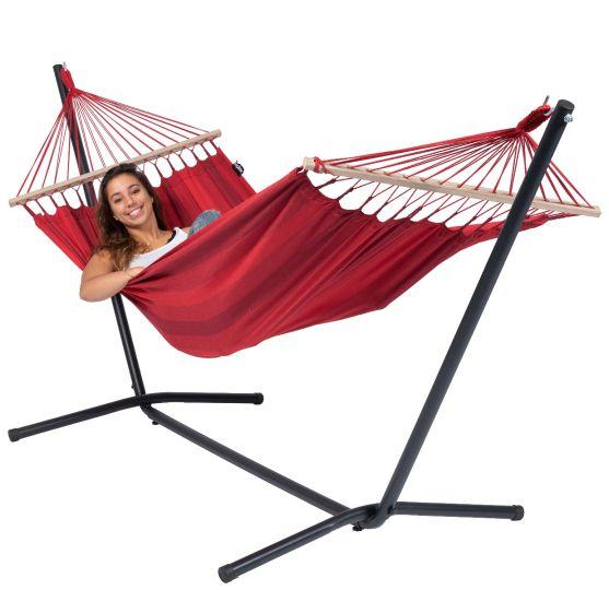 Hængekøje med Stativ til 1 person Easy & Relax Red