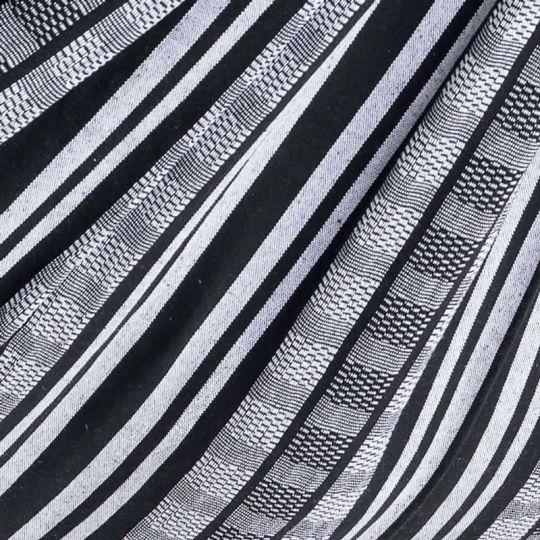 Rejsetæppe Comfort Black White