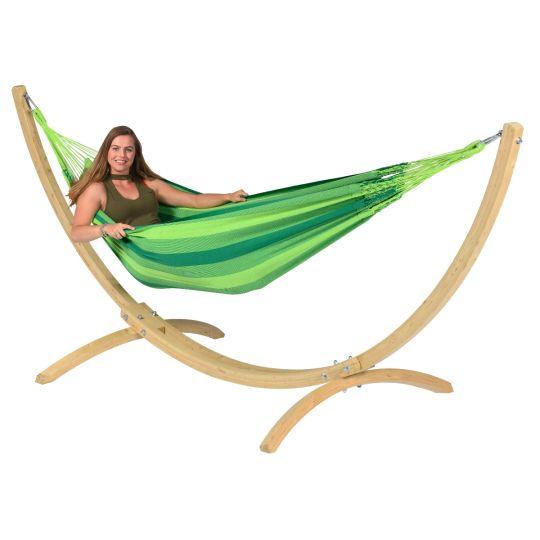 Hængekøje med Stativ til 1 person Wood & Dream Green